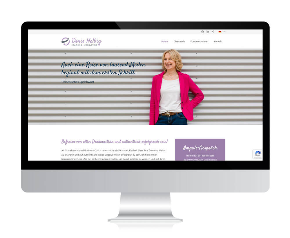 Website von Doris Helbig – Coaching & Consulting