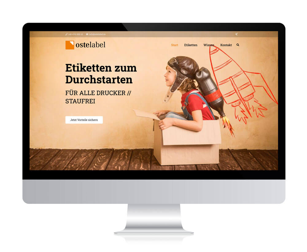 Website von Ostelabel