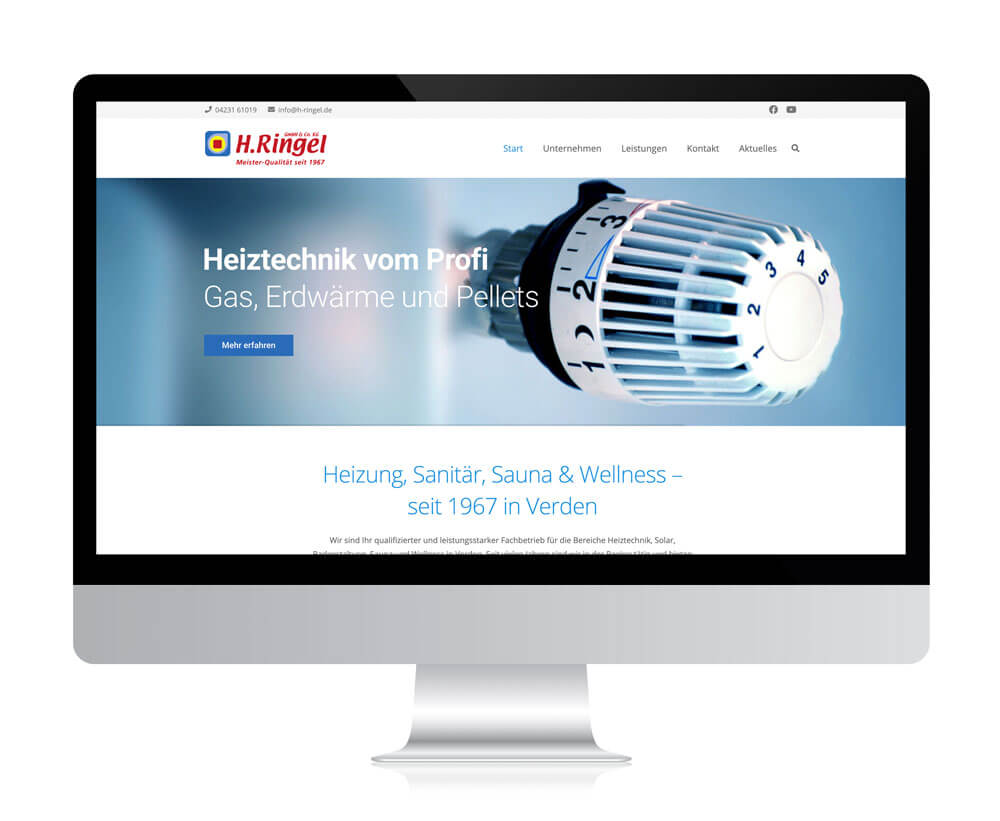 Website von H. Ringel – Heizung & Sanitär